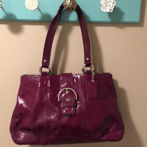 Coach Handbags - Coach purse- fun color and looks new!